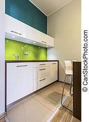 Small kitchen in cozy house - Interior of small kitchen in...