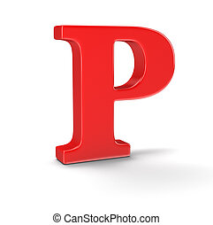 Letter P clipping path included - Letter A Image with...