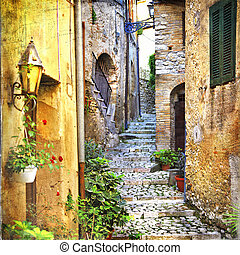 Casperia,Rieti,Italy - charming old streets of mediterranean