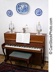Piano Room - portrait of old fashion piano room