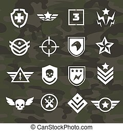 Military symbol icons and logos special forces - Military...