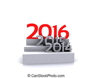new year ... 2016 - 3D illustration - Here comes the new...