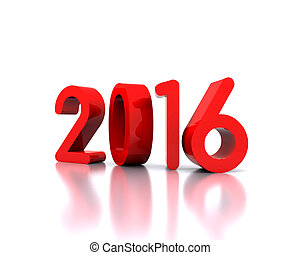 2016 - Here comes the new year 2016 - 3D