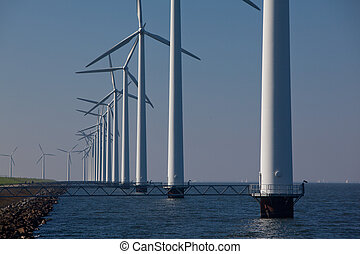 Windturbine - Wind turbines producing alternative energy...