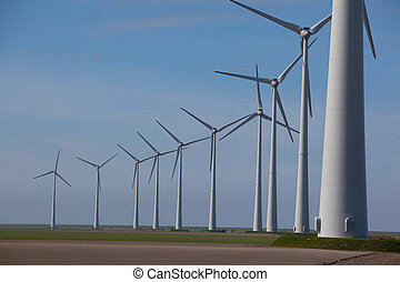 Windturbine - Wind turbines producing alternative energy