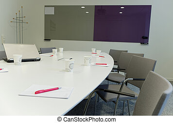 In the meeting room - after the meeting when all is gone