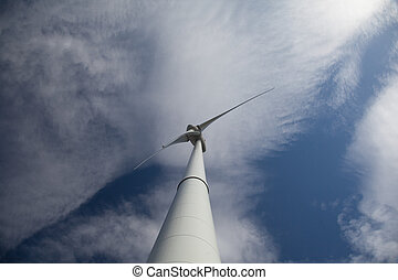 Windturbine - Wind turbine producing alternative energy