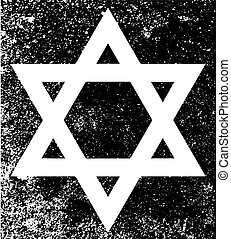 Star of David Half Tone - Star of the Flag of Israel in...