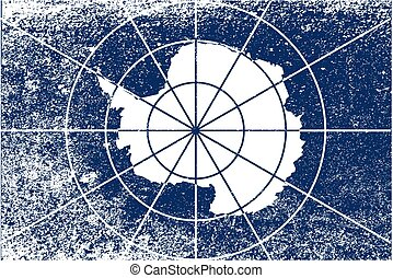 Flag of Antarctica Grunge - The flag accepted as the Flag of...
