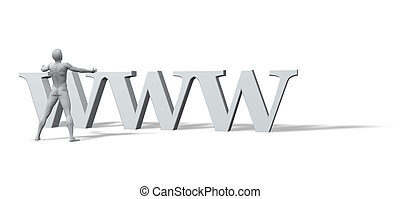 www is the god - sculpture - man with open arms and the...