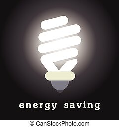 vector symbol of energy saving lamp