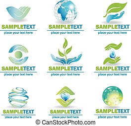 Eco Design Elements, - Eco Design Elements Isolated On White...