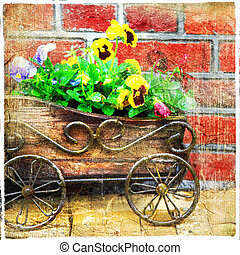 Artistic picture - Old street decoration