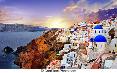 Sunset over Santorini - Beautiful view