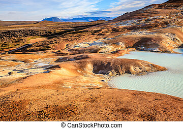 Krafla volcanic field - Hot pool at Krafla volcanic field in...