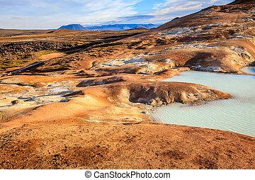 Krafla volcanic field - Hot pool at Krafla volcanic field in...