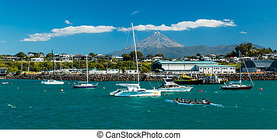 New Phymouth Harbour - New Plymouth harbour with some boat...