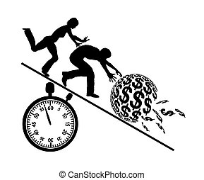 Rat Race for Money - Concept sign of couple greedy for money...