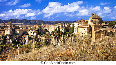 Cuenca,  Spain - medieval Cuenca, town on rocks