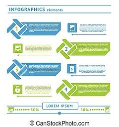 Web infographics elements. Design template