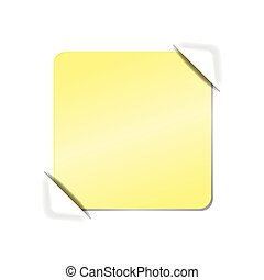 Blank piece of paper. Vector illustration