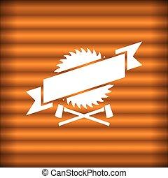 Sawmill design. Vector illustration