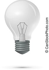 Light bulb on a white background, vector illustration