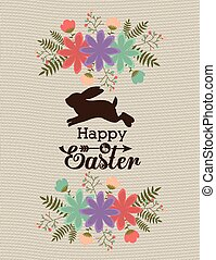 Happy easter card design, vector illustration