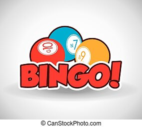 Bingo design, vector illustration. - Bingo design over white...