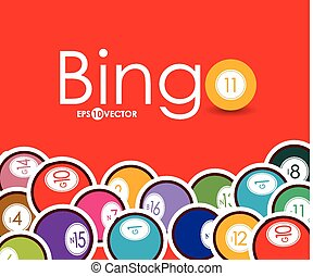 Bingo design, vector illustration. - Bingo design over...