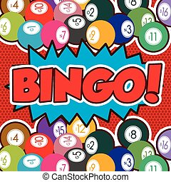 Bingo design, vector illustration. - Bingo design over red...