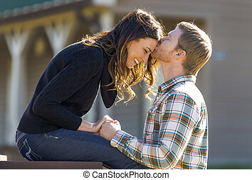 Young Couple - A young couple enjoy each other's company