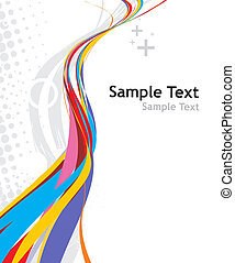 rainbow wave line with sample text background