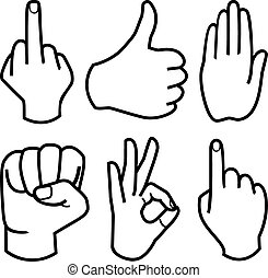 Human Hand collection, vector
