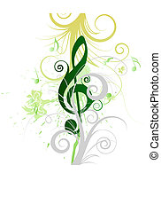 musical grunge - Vector musical grunge background for design...