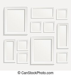 Photo frame - Modern realistic frame on a white background