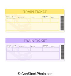 Train Tickets in Two Color Versions