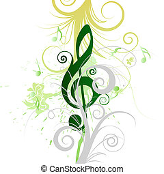 musical grunge - Musical grunge background for design use