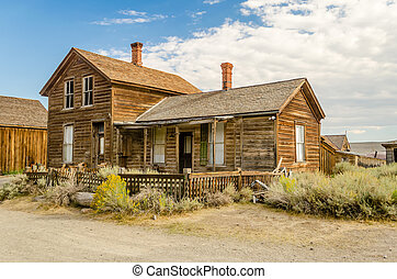 Ghost Western Town in Bodie, California, USA