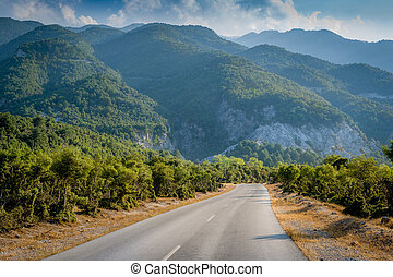 Road to mountains - Road to mountain Olymp near Mendi...
