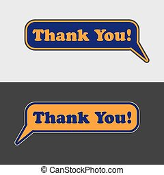 thank you - vector speech bubbles
