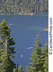 Lake Tahoe Pleasure Boating - Lake Tahoe; Fannette Island;...