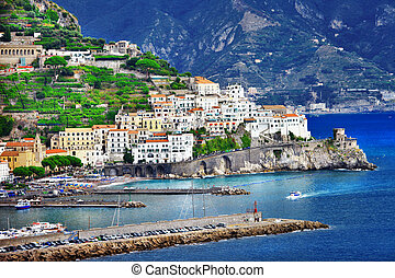 Beautiful Amalfi , Italy - pictorial coastal town Amalfi