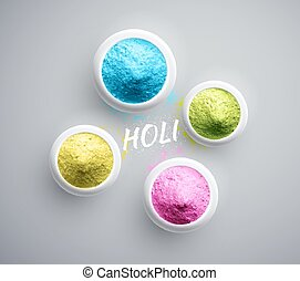 Powder Paint - Powder paint, Holi, eps 10