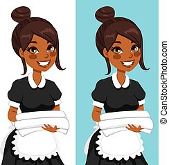 African American Housekeeping Woman