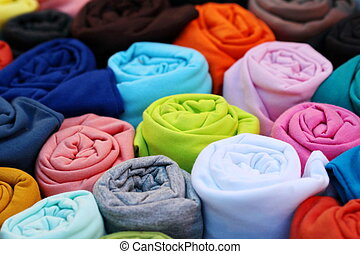 colorful t shirt backgorund, roll - colorful t shirt...