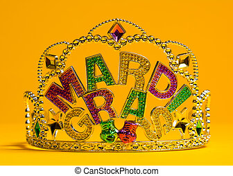 Mardi Gras crown decoration - colorful Mardi Gras crown...
