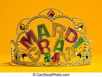 mardi, decoração,  gras, coroa