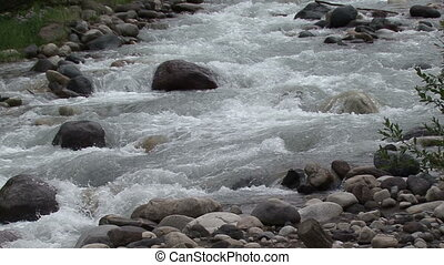 mountain river in the foothills of Mount Elbrus