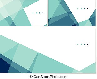 Polygonal template - Vector set of business cards and...